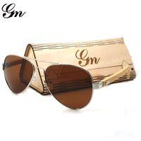 Wholesale sunglasses m for sale - Group buy G M Newest Bamboo Sunglasses Men Wooden Sun glasses Women Fashion Designer Mirror Original Wood Glasses