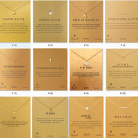 Wholesale Silver Necklace Yellow - 2018 Eighty kinds Lucky elephant unicorn alloy crocodile earrings fashion original design simple copper casting knot love necklace + card