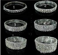 1 2 3 4 row Tennis Crystal bracelet Bridal jewelry rhinestone bracelet  cystl stretch bracelets bridal wedding rhinestone bracelet 2294 fd07b2074468