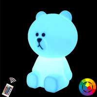 cony brown bear Australia - 30cm 12inch Bear Brown Rechargeable LED Night Light Bunny Cony Rabbit Baby lamp Children Kids Gift for Breast Feeding Night Lamp