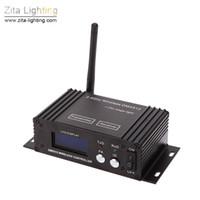 receptor dmx 512 al por mayor-2 Unids / lote Zita Iluminación Inalámbrica DMX 512 Etapa de Iluminación 2.4G Transmisor Receptor Pantalla LCD Repetidor Ajustable Controlador de Iluminación