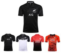 Wholesale Home Play - All Blacks 2017 Special Edition Tour Jersey All Black 2017-18 Play clothes red home and away Rugby Jersey shirt male size S-3XL Free Shippin