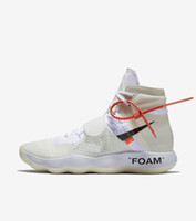 Wholesale Best Zoom - 2018 Best Off Shoes The Ten X Virgil Abloh Air Presto Retro 1 Blazer Mid 97 90 Zoom Fly VaporMax React Hyperdunk 2017 FK White Sneaker 36-45