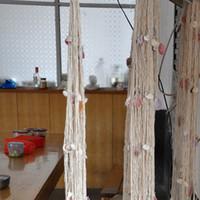 Wholesale Seaside Wall Decor - Fashion Nautical Fishing Net Seaside Wall Beach Party Sea Shells Home Garden Decor