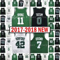 Wholesale Youth Xl Football Jersey - 2017-18 New Men's Youth 11 Kyrie Irving 0 Jayson Tatum Jersey 2018 Kid's 7 Jaylen Brown 42 Al Horford 20 Gordon Hayward Jerseys