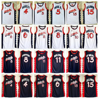 Wholesale usa pennies - 1996 USA Dream Team Jerseys Basketball 15 Hakeem Olajuwon 6 Penny Hardaway 4 Charles Barkley 10 Reggie Miller 8 Scottie Pippen 5 Grant Hill