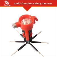 lanternas led china venda por atacado-8-em-1 de emergência ferramenta de segurança do carro Auto Escape Hammer Cinto Cortador Flashing LED Lanterna, Multi-Purpose Life-saving Hammer.made na china