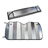 Wholesale Sun Foil - Hot Sale Double-thick Aluminium Foil Sun Shade Sunblock Car Window Windshield Visor Cover 125cmx 70cm