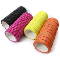 Wholesale yoga foam rollers - 34x14cm Pilates Fitness Foam Roller Home Gym Massage Trigger Point Message grid foam roller,Fitness EVA foam roller