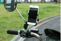 phone holder bicycle toptan satış-Cep telefonu GPS için alüminyum alaşımlı Bisiklet Motosiklet Tutucu Braketi