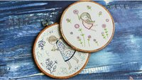 Wholesale Wholesale Embroidery Hoops - DIY cloth art embroidery hoop Material package Embroidery of plants Home Decoration Creative handcraft with hoop set in stock