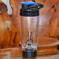 ingrosso vortex plastica-Vonkka 600ml Agitatore automatico di proteine Vortex elettrico Creativo in plastica BPA Sport gratuito La mia bottiglia d'acqua