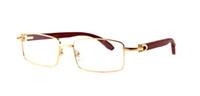 Wholesale black yellow rims - 2018 Screw Santos Sunglasses buffalo Wood Full Rim Vintage Retro Men Plain Mirror Clear Lens Glasses Male Reading Eyewear Frames