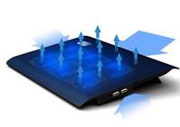 polegada do radiador venda por atacado-1 Pc 10-17 Polegada Laptop Cooling Pad Notebook Ventilador Cooler USB com 6 Ventoinhas de Refrigeração Luz Tablets Stand Quiet PC Radiator