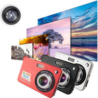 Wholesale Cheap Digital Video - Cheap 18MP 2.7 Inch TFT LCD Digital Cameras Video Recorder 720P HD Camera 8X Zoom Digital DV Anti-shake COMS HD Video Recoding 3 Colors 50pc