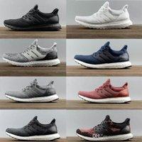 sarı yüksek ayakkabılar toptan satış-Yüksek Kaliteli Ultraboost 3.0 4.0 Koşu Ayakkabıları Erkek Kadın Ultra Boost 3.0 III Primeknit Beyaz Siyah Spor Sneakers 36-47 Çalışır