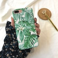 Wholesale banana phone cover online - Summer Palm Leaf Phone Case For iphone Plus Clear Soft Cover Cartoon Banana Leaves Cases For iphone Case