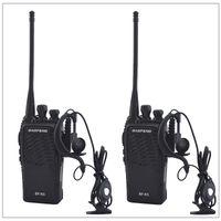 transceptor 3km al por mayor-2 unids / lote Baofeng BF-K5 UHF 400-480MHz Radio bidireccional portátil Transceptor Walkie-Talkie Baofeng para jamón, hotel con auricular gratis