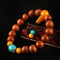 Wholesale sandalwood prayer rope for sale - Sandalwood Chakra Bracelet Men Black Lava Healing Balance Beads Reiki Buddha Prayer Natural Stone Yoga Bracelet For Women