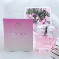 luxus parfums großhandel-Luxusmarke hochwertiges rosa Kristallparfüm 90ml für Frauenparfüm mit langlebigem Duft Gute Qualitätsgeschenke mit Kasten