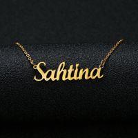ingrosso personalizzare collane-Collana con nome personalizzato personalizzato Collana con nome personalizzato personalizzato Cursive Collana personalizzata