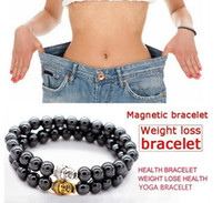 Wholesale health care magnetic bracelets for sale - Group buy Magnetic Hematite Round Budda Heads Stone Beads Bracelet For Men Women Weight Lose Anti Fatigue Health Care Energy Bracelet