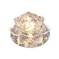 lâmpada de lótus venda por atacado-Girassol moderno 3W Corredor de Cristal Downlights Sala de estar lobby Luzes de Teto De Vidro Flor De Lótus Corredor Lâmpada Do Teto Do Armário