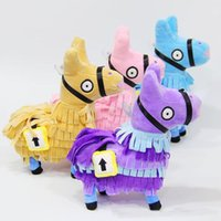 Wholesale 4 Colors cm Fortnite Llama Plush Toys Soft Stuffed Doll Cartoon Fortnite Stuffed Animals Plush Dolls Party Favor