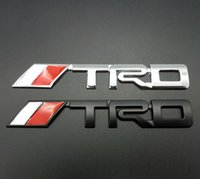 Wholesale Trd Badge Emblem - 3M Glue TRD Sport Car Emblems Badge Decal On Car Stickers Bumper Sticker