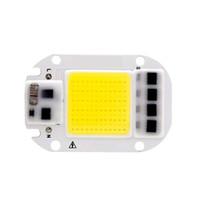 ic yongası açtı toptan satış-LED COB Çip 50 W 30 W 20 W 110 V 220 V Akıllı IC Gerek sürücü Girişinde Yüksek Lümenler Çip DIY LED Işıklandırmalı Spotlight Işı ...