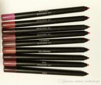Wholesale dark brown lip liner online - Beauty Brand Makeup Colors Waterproof Lip Coutour Liner Pencil Pen Lip Gloss Lipliner Lipstick rouge a levre Kit