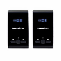 Wholesale wireless tour guide - 2pcs Tour Guide Transmier For Wireless Tour Guide System Set Simultaneous Translation Meeting Interpretation System F4504A