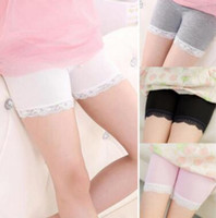 0215595b4b8 New summer girls cotton short leggings lace short leggings for girls lace  safety pants shorts baby girl short tights high quality 60506