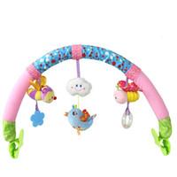 Wholesale baby animal music plush toys resale online - baby cartoon animal music bell BB lathe clip baby plush toys