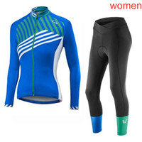 Wholesale cycling jersey set long sleeve women online - LIV team Cycling long Sleeves jersey pants sets women new hot outdoor camisa de ciclismo Breathable Polyester mtb bike sportwear C2101