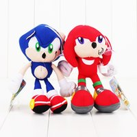 caráteres do luxuoso do natal venda por atacado-20CM SEGA sonoras Plush Toys os hedgehog Plush brinquedo Personagens sonoras de presente de Natal