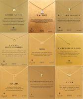 kolye anahtarlık toptan satış-Lüks Marka dogeared Kolye kart Ile Altın Fil Kalp Anahtar Yonca At Nalı Üçgen Charm Kolye Kolye kadınlar Için Moda Takı
