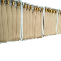 Wholesale human hair attachment for braids for sale - Straight wave Blonde Color Bulk Human Hair for Braiding Peruvian Hair Extensions No Attachment Free Shedding free tangle g one