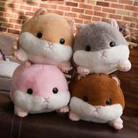 doldurulmuş oyuncak fareler toptan satış-50 cm Sevimli Hamster Fare Peluş Oyuncak Dolması Yumuşak Hayvan Hamtaro Yastık Handwarmer Çocuklar için Güzel Çocuk Bebek Oyuncak Noel Hediyesi