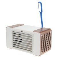 Wholesale small home desks online - USB Mini Cooling Fan Desk Lamp Cooling Fan Silent Desktop Electric Small Cooler Blade With Triangle Ice Crystal For Home NB