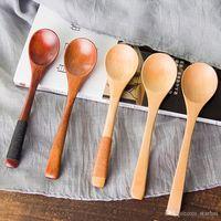 ingrosso stoviglie di qualità-Cucchiai di legno di alta qualità da 13 * 3 cm Caffè per tè Latte Miele Articoli per la tavola Accessori da cucina Cucinare sale da zucchero Cucchiaini WX9-459