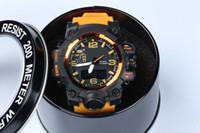 uhren führte junge großhandel-Heiße neue Art relogio Männer Sport Uhren LED Chronograph Uhren Militäruhr Digitaluhr Männer Junge Geschenk mit Box Direktversand