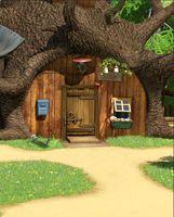 Wholesale photo background 5x7ft for sale - Group buy 5x7FT Masha Bear Tree House Green Garden Wood Door Custom Photo Studio Background Backdrop Vinyl cm x cm