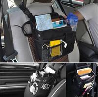 bolsa de bolso multifuncional venda por atacado-Auto Car Frente Traseira Do Assento de Pós Organizador Multi-funcional Saco De Armazenamento De Bolso Tampa Do Assento de Volta saco organizador do carro GGA91 5 PCS