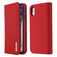yo llamo fundas de cuero al por mayor-DUX DUCIS Wish para iPhone x Estuche para teléfono móvil Flip Phone Hostler Estuche para tarjetas i-Phonex xPhone xcases i7 i8 i6plus ipx