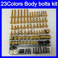 Wholesale Cbr954rr Fairings - Fairing bolts full screw kit For HONDA CBR954RR 02 03 CBR900RR CBR 954 RR 900RR CBR954 RR 2002 2003 Body Nuts screws nut bolt kit 23Colors