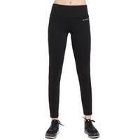 ingrosso black female yoga pants-Donne Base Layer Colore nero Yoga Pantaloni Spandex Stretched Running Tights Palestra femminile Fitness Sport Leggings Yoga Wear For Ladies