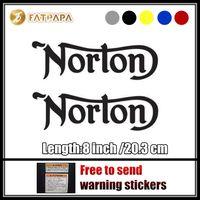 Wholesale Bike Body Fairings - motorcycle bike Fuel tank Wheels Fairing notebook Luggage helmet MOTO Sticker decals For Norton Motorcycle LOGO