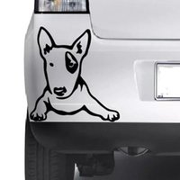 Wholesale bull head sticker for sale - Group buy Car styling for CUTE Bull Terrier Puppy Dog Wall Art Home Sticker Animal Decal Pet Vinyl Decor