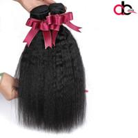 Wholesale Brazillian Kinky - Mink Brazilian virgin hair human hair kinky straight yaki natural color 3 bundles Brazillian Yaki Human Hair Weft